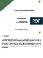 Linear Programming Problems en 29-5-2012