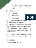 AVALIAÇÃO TEÓRICA PILATES