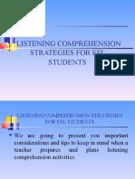 Presentacion Nº9 Strategies for listening practice