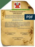 CREDENCIAL TESORERO