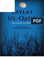 Laylat Ul Qadr the Night of Power