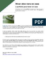 Cultivar Aloe Vera en Casa