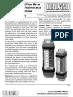 BA Hedland in-Line Liquid Flow Meter Oil Water Emulsion Phoshatel