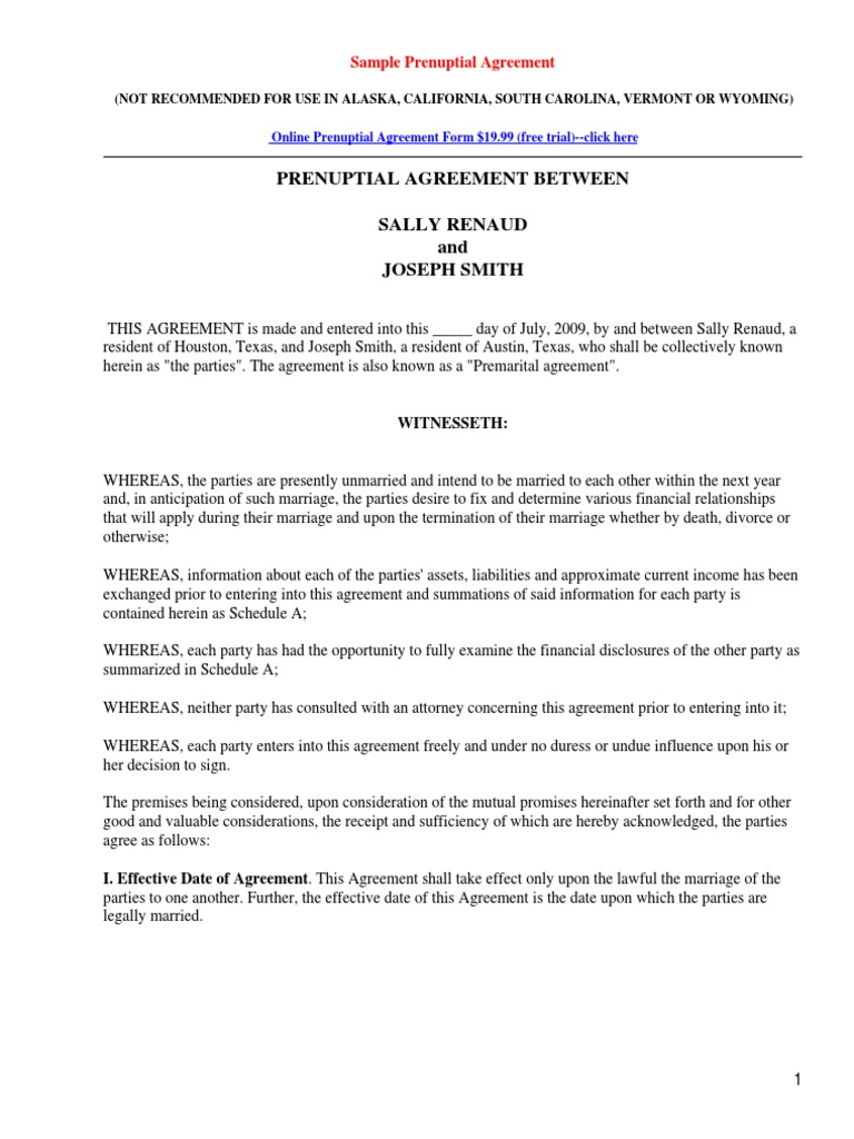 Premarital Agreement Template 10 Prenuptial Agreement Templates Free