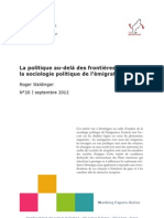 La sociologie politique de l'émigration (Waldinger)