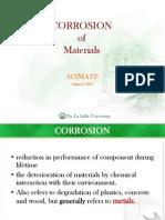 Scimatp Lecture 14 Corrosion