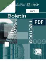Boletin Tecnico Abril 2009