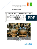 UNICEF Guide Formation Appui Psychosocial