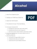 lesson plan - alcohol