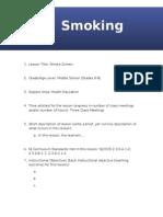 lesson plan - smoking