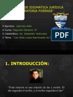 ENSAYO DE IDIOMÁTICA JURÍDICA Y ORATORIA FORENSE