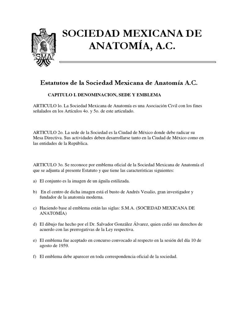 Estatutos Soc Mex Anatomia