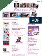 Dicas Para Pet_ Receita Caseira Para Acabar Com Pulgas e Carrapatos