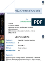 CBB4032 Chemical Analysis Introduction