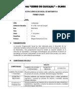 PROGRAMACIÓN CURRICULAR ANUAL PRIMER GRADO SEC