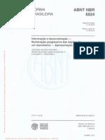 Abnt Nbr 6024 Numeracao Progressiva Das Secoes de Um Documento Escrito