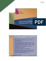 Analyzing Strategic management