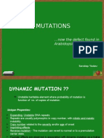 Dynamic mutation a trinucleotide repeat disorder