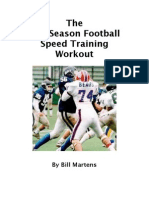The Off Season Football Speed Training Workout