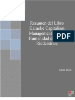 Resumen Del Libro Karaoke Capitalism - Jonas Ridderstrale