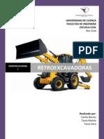 INFORME RETROEXCAVADORAS