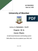 4.93 Msc Physics Sem i,II,III,IV