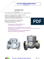 MIGZ Cast-Steel Swing Check Valve
