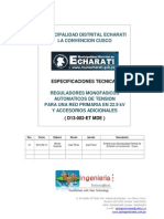 E-002-RT-ET  -  Municipalidad Distrital Echarate Cusco - Especificación Técnica - Rev.01
