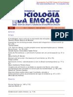 Revista Brasileira de Sociologia da Emoção v1 n1 abril 2002 em PDF