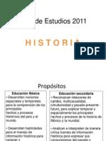 Plan de Estudios 2011 HISTORIA - Breve introducción