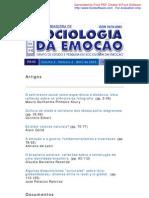 Revista Brasileira de Sociologia da Emoção v2,n4,abril2003