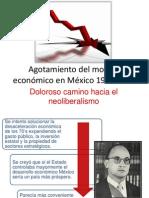 Agotamiento del modelo económico en México 1970-1990