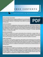 Certificate Modules Brochure