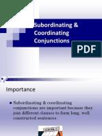 Subordinating Coordinating Conjunctions
