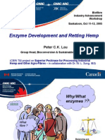 Enzyme Development and Retting Hempre