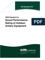 AHRI 270-2008 - Sound Rating of Outdoor Unitary Equipment