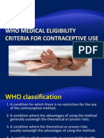 WS 1. WHO Contraception