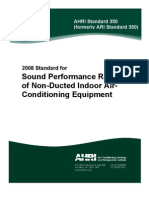 AHRI 350-2008 - Sound Rating of Non-Ducted Indoor Air-Conditioning Equipment