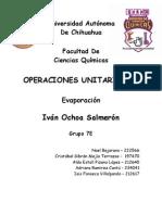 ENSAYO DE EVAPORADORES