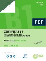 B1 Modellsatz Erwachsene Dezember 2012