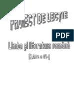 proiect lectie