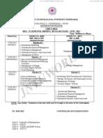 Mba IV-sem Reg. III-sem Supply-timetable-june 2013