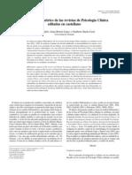 Análisis bibliométrico de las revistas de Psicología Clínica
