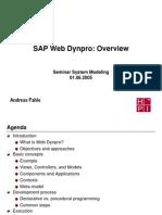 12 WebDynpro Overview