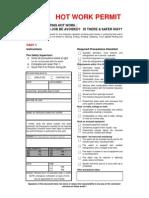 AIG Hot Work Permit Only Rev 120618