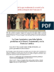 1 Gran Apostasia y Profecias Catolicas