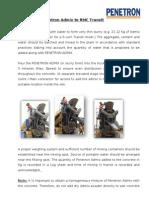 3 Methodology for Penetron Admix Dosing to Concrete
