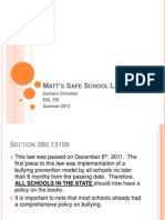 Matt's Safe School Law