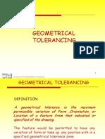 Geometrical Tolerancing
