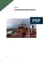 IACS International Association of Class Societies - Maintenance Strategi Guideline - Rec74 - 2011